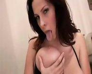 BIG tits babe masturbates SCREAMS during orgasm - scene 7