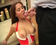 hot wife rio -. xmas cumshot - scene 8