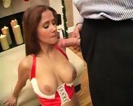 hot wife rio -. xmas cumshot - scene 9