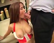 hot wife rio -. xmas cumshot - scene 10