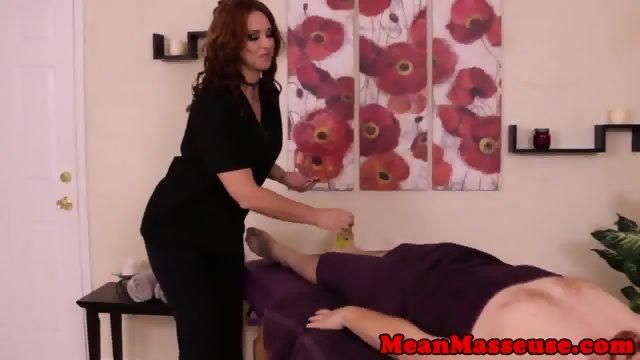 CBT masseuse Brianna teasing pathetic sub - scene 1
