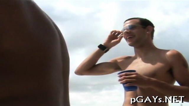 Gay boys enjoy their ass bang
