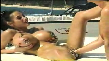 Opearl and her friend fisting her pussy on a boat - scene 5