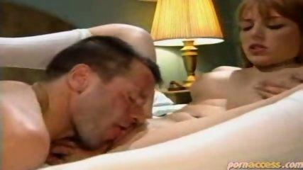 Tramp pussy licks a readhead chick - scene 9