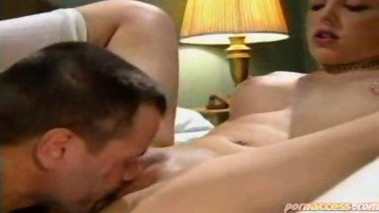 Tramp pussy licks a readhead chick - scene 11