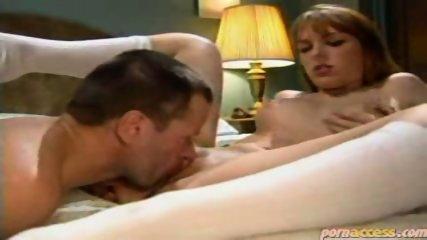 Tramp pussy licks a readhead chick - scene 6