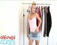 Carmen Cocks - Clothrack striptease - scene 3