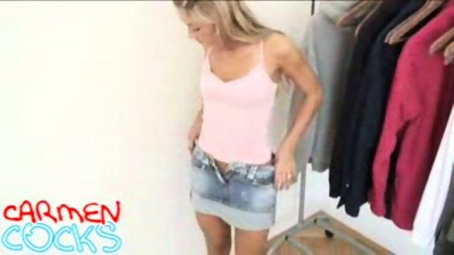 Carmen Cocks - Clothrack striptease