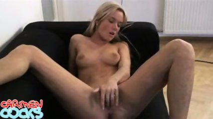 Carmen Cocks - Black Couch Mastrubation - scene 9