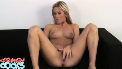 Carmen Cocks - Black Couch Mastrubation - scene 7