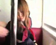 Censored: Japanese girl felt-up and fucked on a train - scene 9