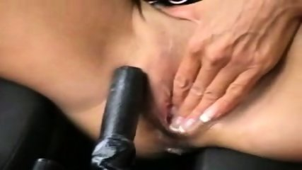 Girl fucks gearstick handbrake inc. anal and piss - scene 7