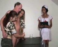 Military HJ - 2 Army Teens 1 Nurse & Old Man - scene 11
