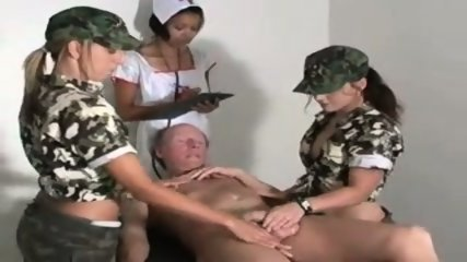 Military HJ - 2 Army Teens 1 Nurse & Old Man - scene 2