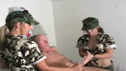Military HJ - 2 Army Teens 1 Nurse & Old Man - scene 3
