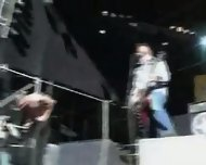 Amateur - Sex on stage of a live rock concert - scene 9