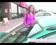 Melissa Doll - Masturbating in the car - scene 3