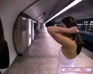 Melissa Doll - Melissa and Jinny public exposure - scene 1