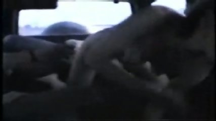 Homemade - Two men fuck one girl in a car - scene 6