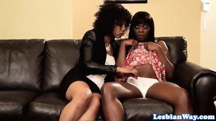 Gorgeous black lesbians fingering vags