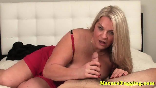 BBW in lingerie jerking cock pov - scene 7