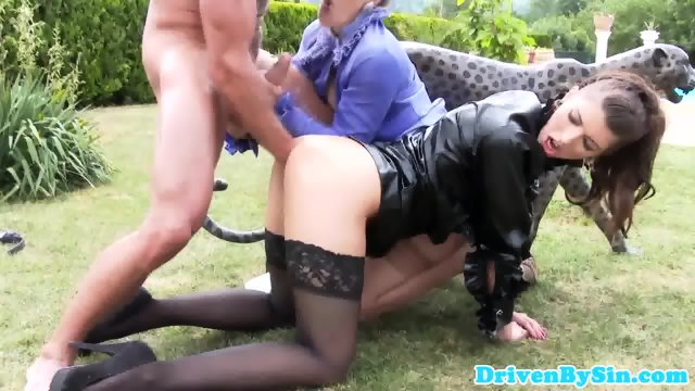 Classy eurobabes fistfucked outdoors - scene 9