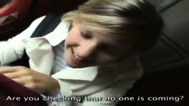 Amateur BJ in a Train Full of People!!