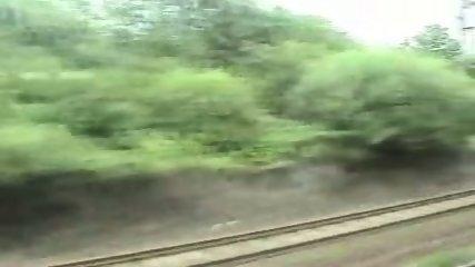 Amateur BJ in a Train Full of People!! - scene 5