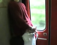 Amateur BJ in a Train Full of People!! - scene 6