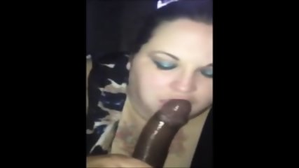 White BBW Giving Throat