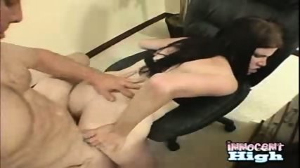 Holly, a careless slut, gets screwed by the school guard - scene 12