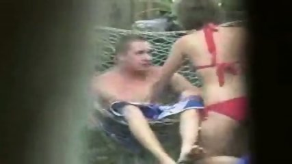 Amateur - Couple caught screwing in the garden - scene 2