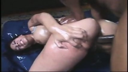 Hot anal ebony action!