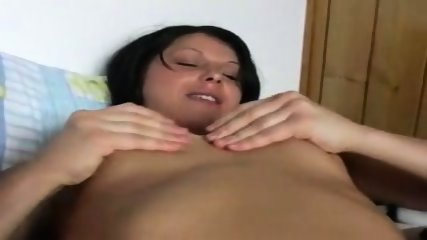 Brunette Masturbates on Bed - no toys - scene 3