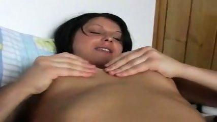 Brunette Masturbates on Bed - no toys - scene 3