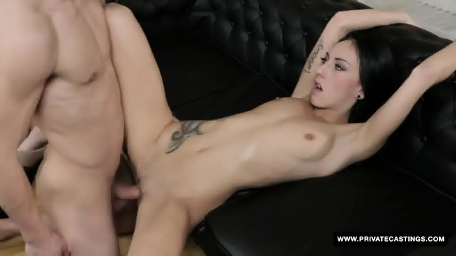Tattooed Newbie El Storm Has Her First Hardcore...