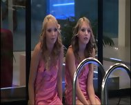 BBUK Twins in pink silk nighties softcore - scene 9