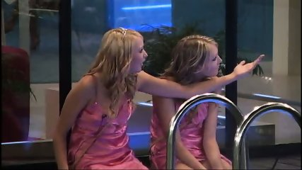 BBUK Twins in pink silk nighties softcore - scene 10