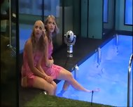BBUK Twins in pink silk nighties softcore - scene 2