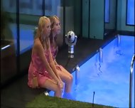 BBUK Twins in pink silk nighties softcore - scene 5