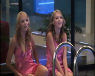 BBUK Twins in pink silk nighties softcore - scene 7