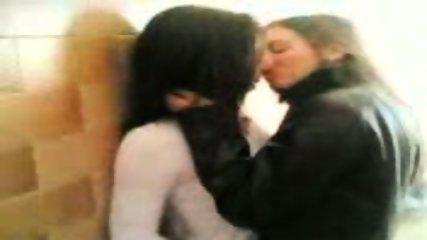 Teen Lesbians kissing - scene 7
