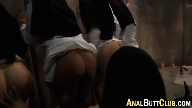 Nuns get asses dominated
