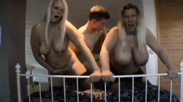 Lucky German Guys Fucks His Two Neighbours