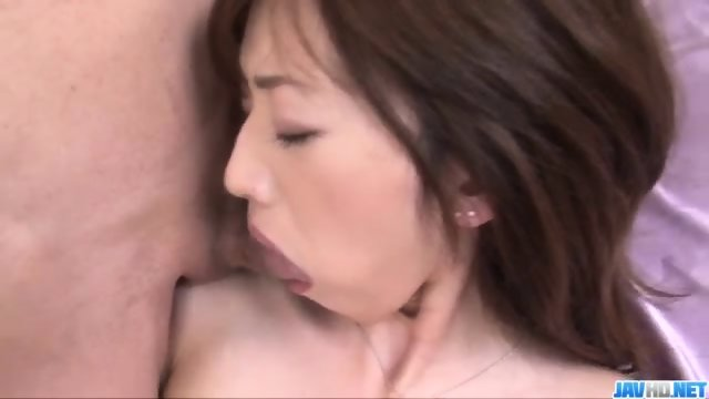 Kanon Hanai looks amazing with two cocks in her holes