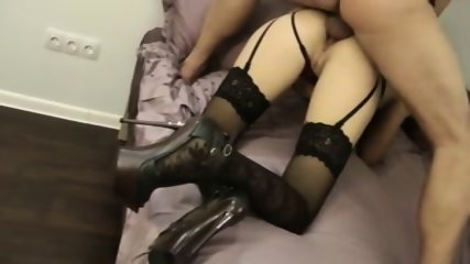 Anal Creampie For Nice Lady In Stockings - scene 5