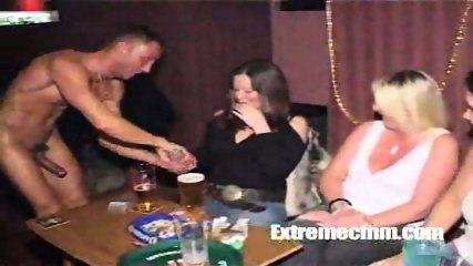Girl sucks naked dancers cock in public - scene 8