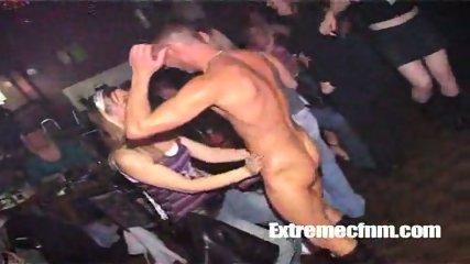 Girl sucks naked dancers cock in public - scene 7