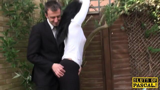 Alternative brit submissive facialized