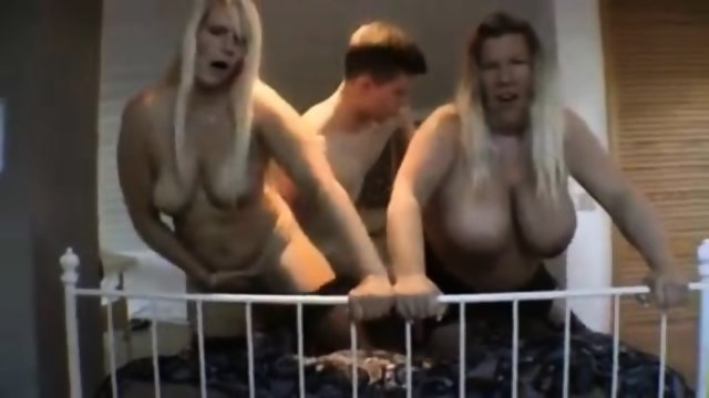German guy fucks two mature blondes - I am on DATE4JOY.COM